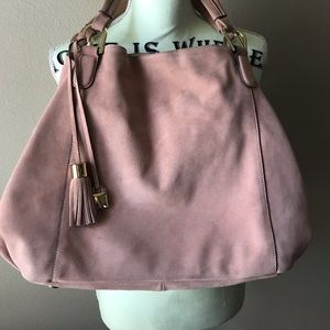 💖🍬GILI Pink suede Roma 5 Tote🍬💖